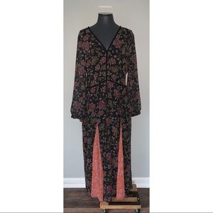 LAIA Anthropologie Ines Floral Maxi Dress XL NWT